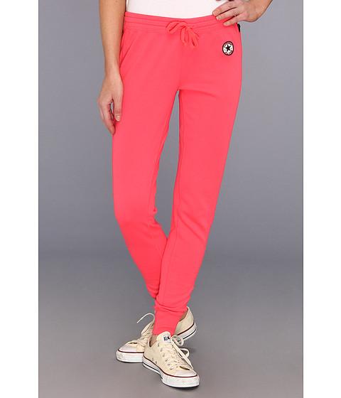 Pantaloni Converse - Core French Terry Cuffed Bottom Pant - Electric Pink