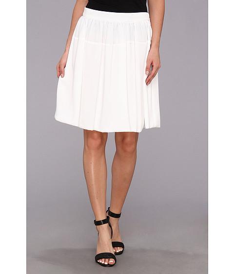 Fuste Calvin Klein - Poly Chiffon Circle Skirt w/ Chiffon - White