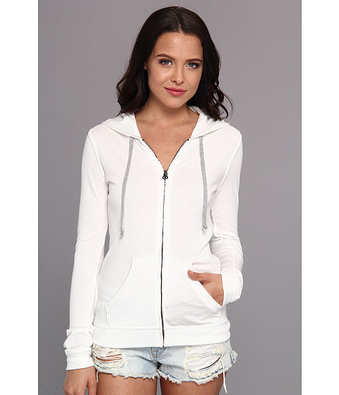 Bluze BCBGeneration - Zip Front Hoodie BEB4E073 - Optic White