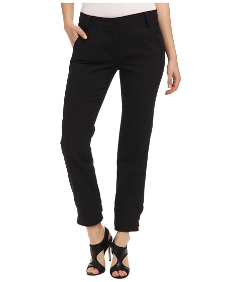 Pantaloni Tibi - City Stretch Pants w/ Buckle Details - Black
