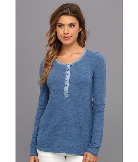 Bluze Splendid - Indigo Blue Knits Long Sleeve - Medium Solid