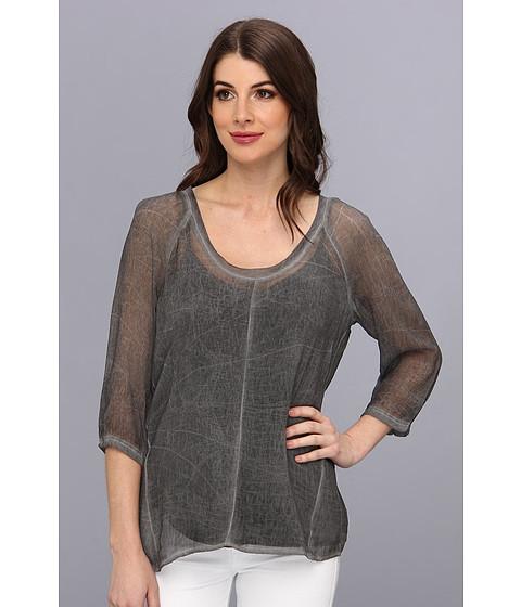 Bluze DKNY - Washed Woven Tee - Slate Grey