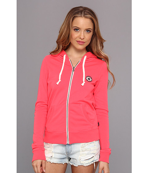 Bluze Converse - French Terry Chuck Patch Full Zip Hoodie - Electric Pink