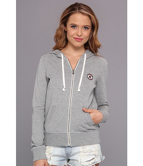 Bluze Converse - French Terry Chuck Patch Full Zip Hoodie - Grey Heather