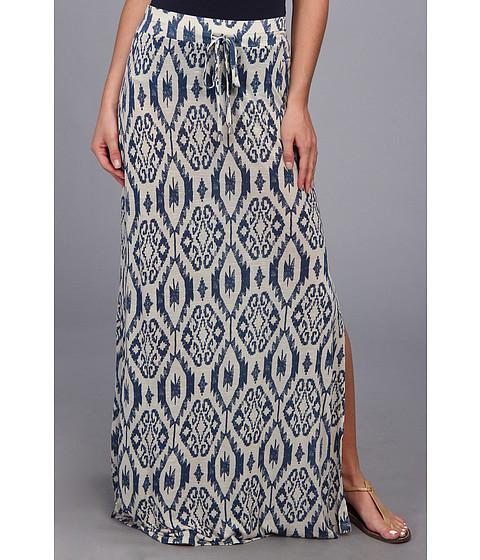 Fuste Seven7 Jeans - Navajo Print Side Slit Skirt - Bone White