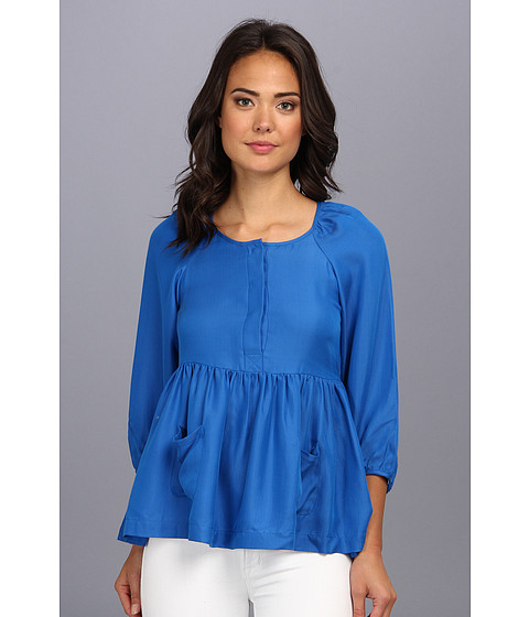 Bluze French Connection - T Alexia Silk Blouse - Bobby Blue