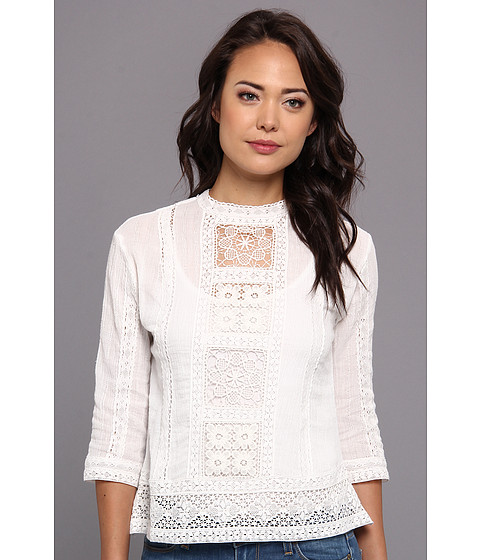 Bluze Dolce Vita - Indra Lace Inset Top - White