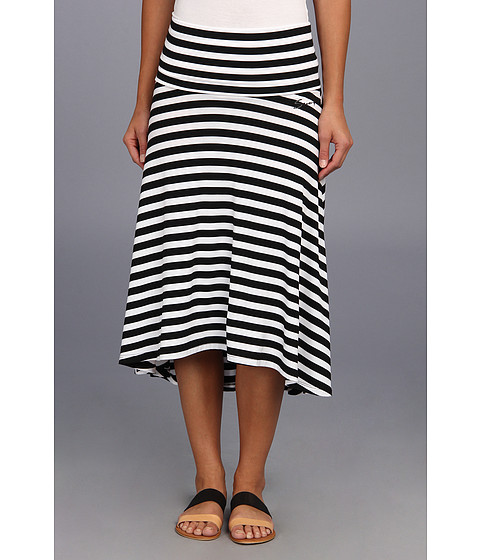 Fuste Seven7 Jeans - Striped Hi-Lo Twofer Skirt - Black/White