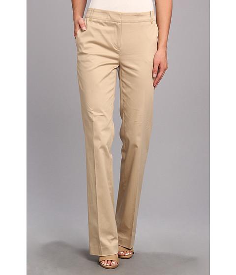 Pantaloni Jones New York - Modern Pant w/ Belt Loops And Back Pockets - Rye (Tan)