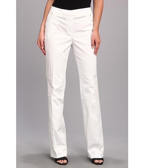 Pantaloni Jones New York - Modern Pant w/ Belt Loops And Back Pockets - White