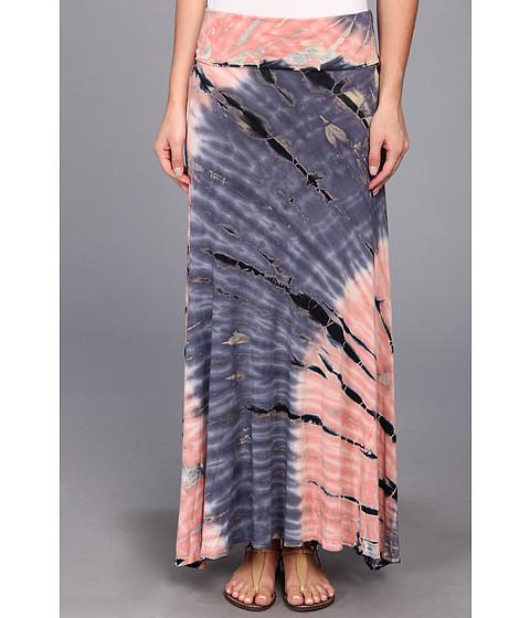 Fuste Brigitte Bailey - Two-Tone Tie-Dye Skirt - Coral
