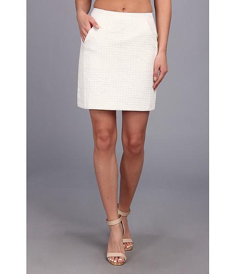 Fuste Christin Michaels - Heather Woven Pencil Skirt - White