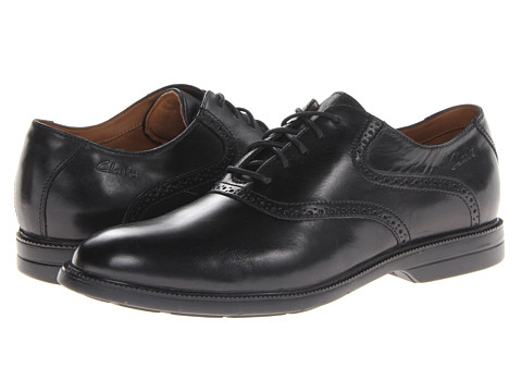 Pantofi Clarks - Bilton Forge - Black Leather