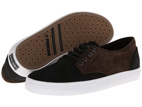 Adidasi Dekline - Mason Premium - Black/Dark Brown Wax Suede