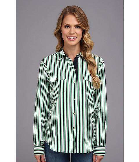 "Camasi Jones New York - Two-Pocket Shirt 26\"" - Kelly Green Combo"
