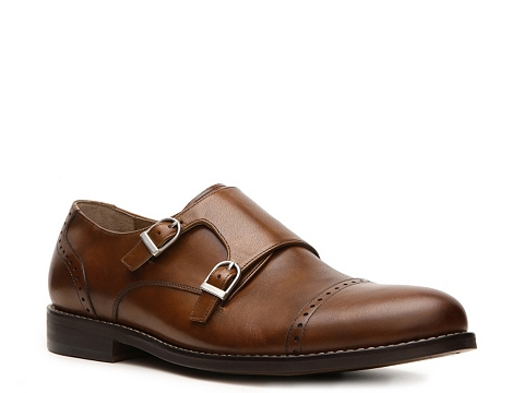 Pantofi Aston Grey - Tanner Double Monk Slip-On - Cognac