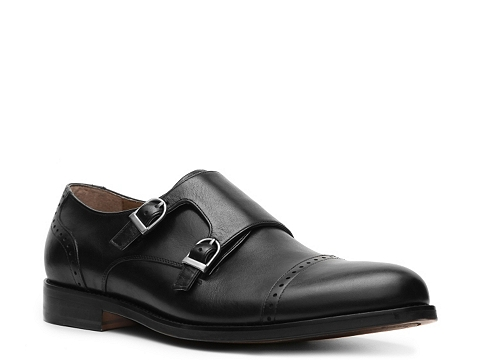 Pantofi Aston Grey - Tanner Double Monk Slip-On - Black