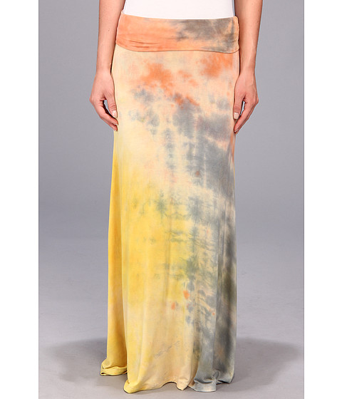 Fuste Brigitte Bailey - Tye Dye Maxi Skirt - Orange