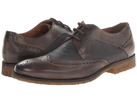 Pantofi John Varvatos - Monaco Crepe Wingtip - Soil