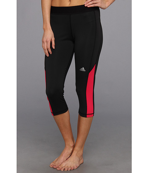 "Pantaloni adidas - TECHFITâ""¢ Capri Tight - Black/Vivid Berry"
