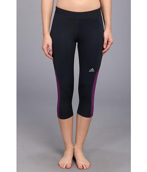 """Pantaloni adidas - TECHFITâ""""¢ Capri Tight - Night Shade/Tribe Purple"""