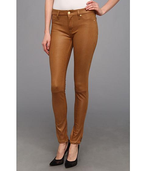 Pantaloni 7 For All Mankind - Knee Seam Skinny in Cognac Crackle - Cognac Crackle