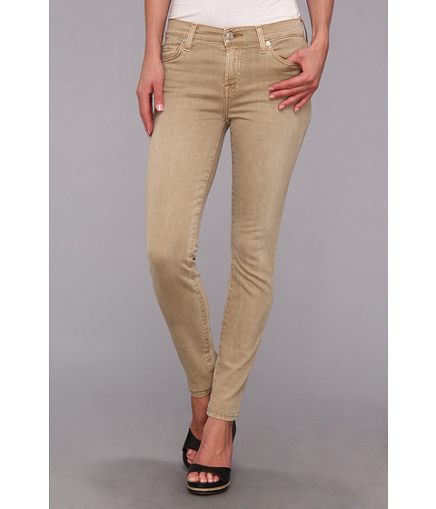 Blugi 7 For All Mankind - Ankle Skinny in Khaki Sandwashed Twill - Khaki Sandwashed Twill