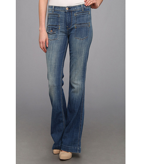 Blugi 7 For All Mankind - Georgia High Waist Flare in Bright Light Broken Twill - Bright Light Broken Twill