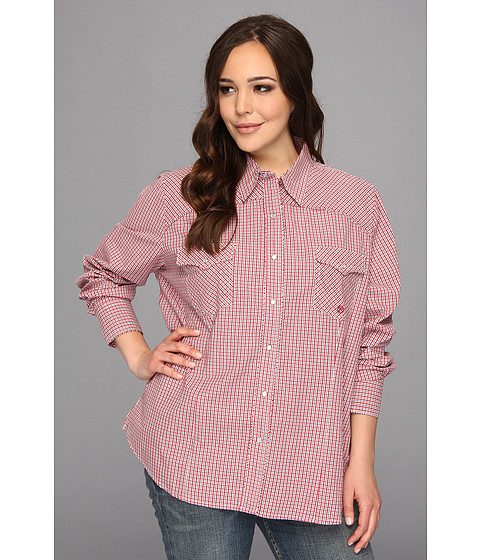 Camasi Roper - Plus Size 9018 Summer Check - Red - Red