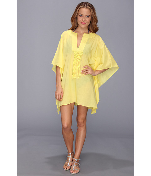 Costume de baie Vince Camuto - The Caribbean Sunset Tunic w/ Macrame Cover Up - Golden Rod