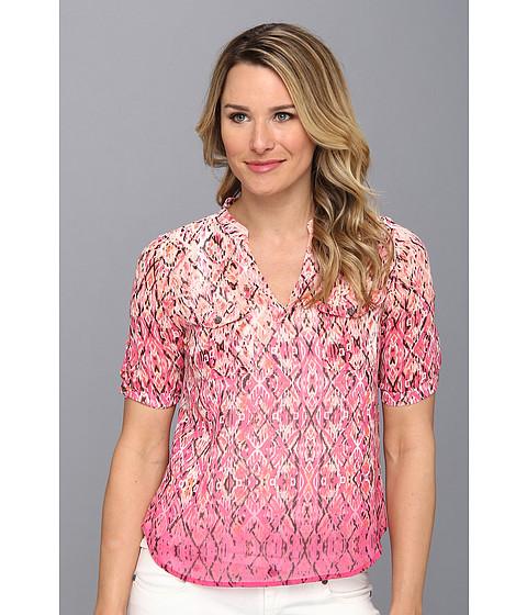 Bluze Vince Camuto - Split Neck Diffused Foulard Shirt - Dark Pink