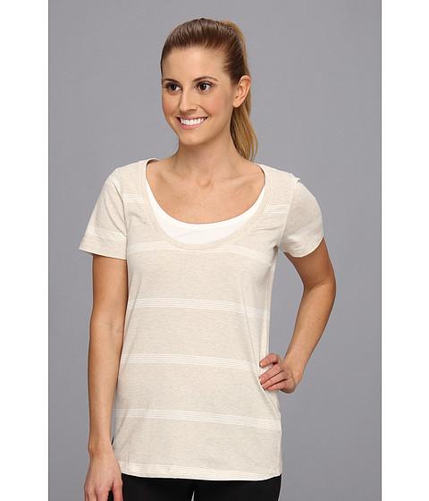 Bluze Lole - Kiss Short Sleeve Scooped Neckline Top - Mineral/Cloud Stripe