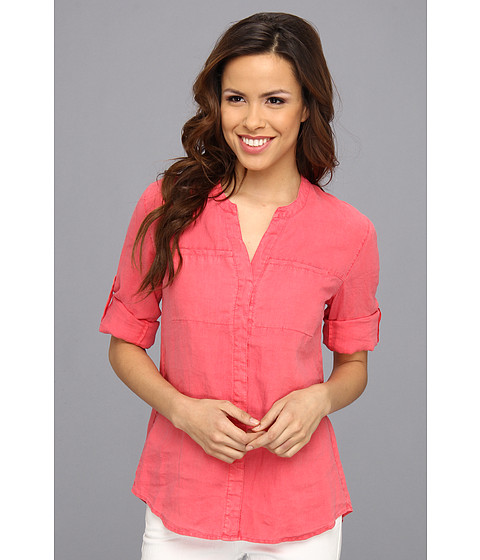 Camasi Tommy Bahama - Two Palm Shirt with Hidden Pocket - Cherry Pink