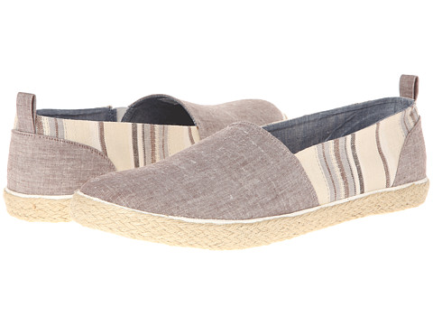 Adidasi Generic Surplus - Slip On - Linen - Brown Chambray/Striped