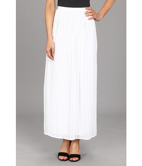 Fuste Calvin Klein - Pinktuck Maxi Polyester Chiffon Skirt - White
