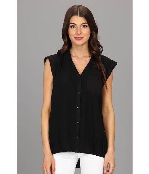Bluze Calvin Klein - One Pocket Box Polyester Chiffon Top - Black