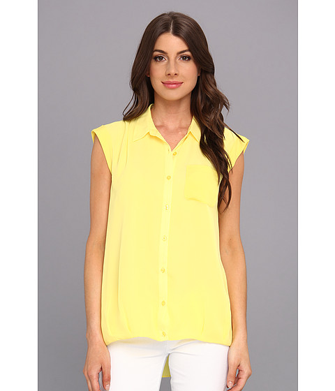 Bluze Calvin Klein - One Pocket Box Polyester Chiffon Top - Daisy