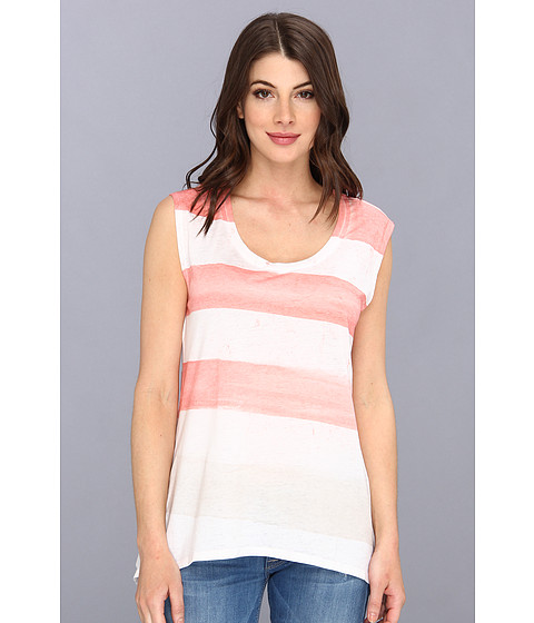 Bluze DKNY - Painted Stripe Sharkbite Tee - Koi
