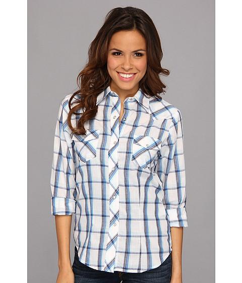 Camasi Roper - 9105 Triple Blue Plaid Long Sleeve Shirt - Blue