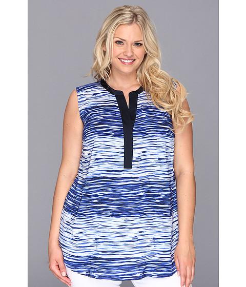 Bluze Vince Camuto - Plus Size S/L River Stripe Tunic - Ocean