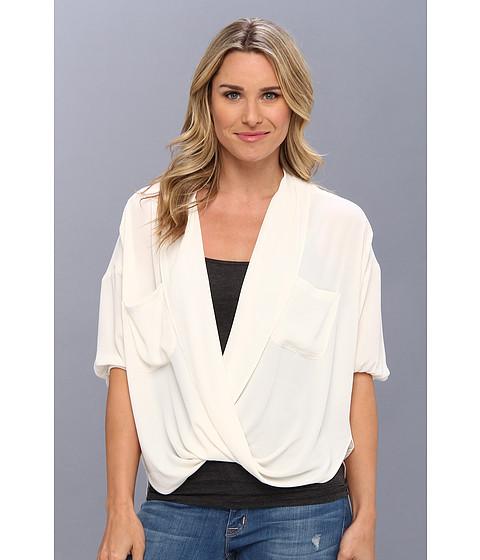 Bluze Karen Kane - Shawl Collar Blouson Wrap - Cream