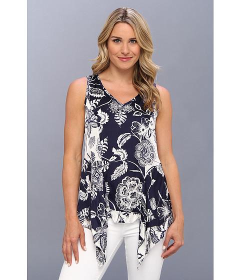 Bluze Karen Kane - Sleeveless Handkerchief Top - Navy