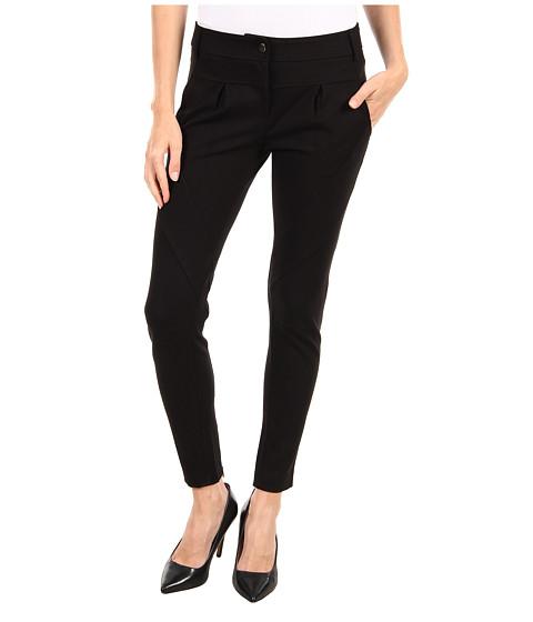 Pantaloni Tibi - Ponte Pleated Seamed Pant w/ Back Ankle Zip - Black