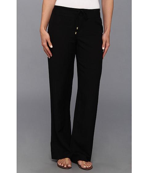 Pantaloni Calvin Klein - Linen Wide Leg Pant - Black