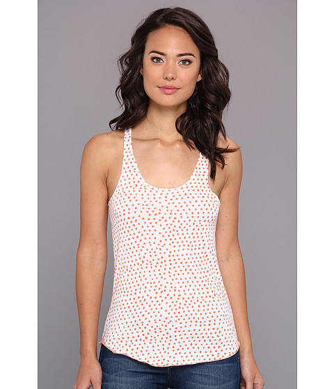 Bluze Alternative Apparel - Meegs Racer Tank - Eco Ivory Persimmon Haru Dot