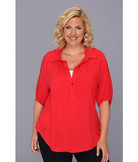 Bluze Karen Kane - Plus Size Blouson Sleeve Top w/ Placket - FLM