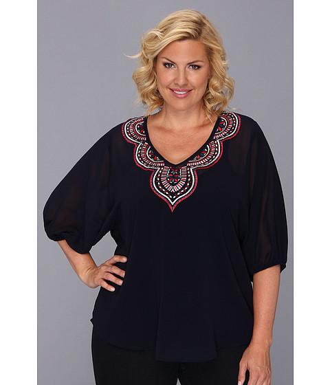 Bluze Karen Kane - Plus Size Embroidered Tunic - Navy