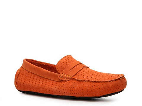 Pantofi Mercanti Fiorentini - Perforated Penny Moc Loafer - Orange