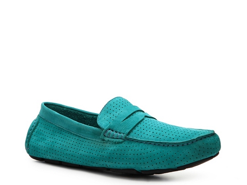 Pantofi Mercanti Fiorentini - Perforated Penny Moc Loafer - Turquoise