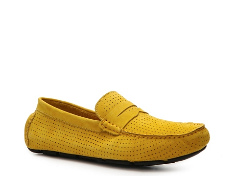 Pantofi Mercanti Fiorentini - Perforated Penny Moc Loafer - Yellow